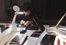 arbeiten mit Licht beim Uhrenseminar